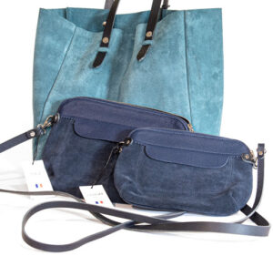Berthes tasker i ruskind og læder
